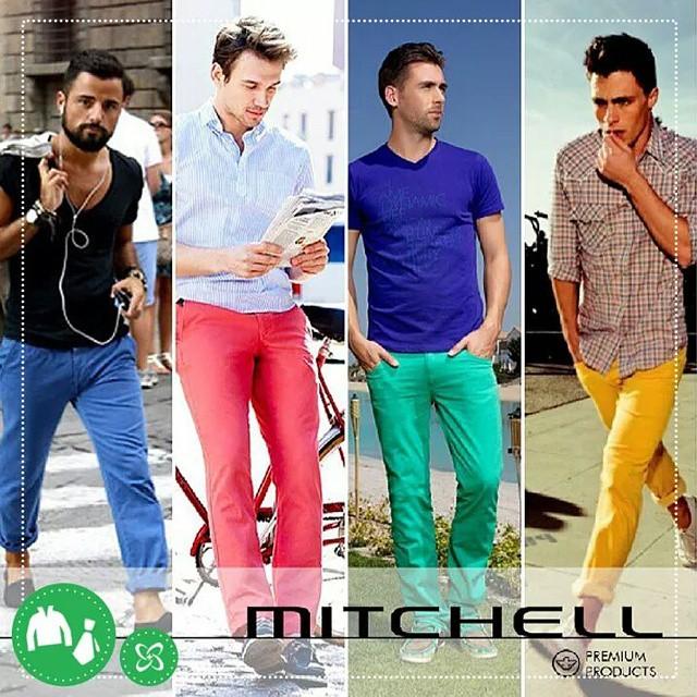 Gostou das calcas coloridas mas está sem saber como usar? Fica a dica! #mitchel #shoppingconquistasul