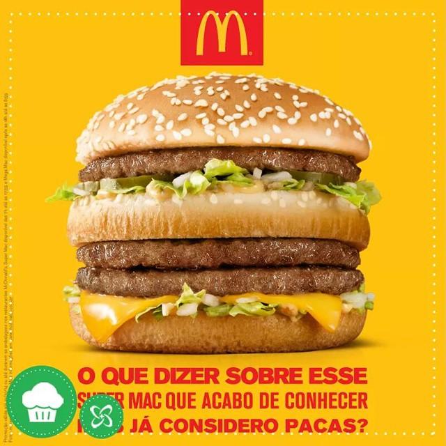 E tem como não amar o Super Mac? Pra fechar a segunda com chave de ouro! #supermac # McDonalds #shoppingconquistasul