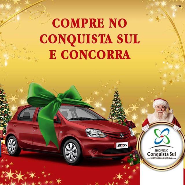 Esse pode ser seu! Participe da Promoção Presente de Natal Shopping Conquista Sul. #promoção #natal #etios #shoppingconquistasul