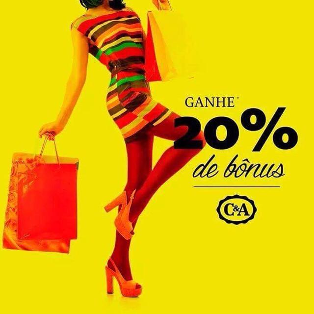 A C&A está dando 20% de bônus, já viu? Vem pra cá! #promoção #c&a #shoppingconquistasul