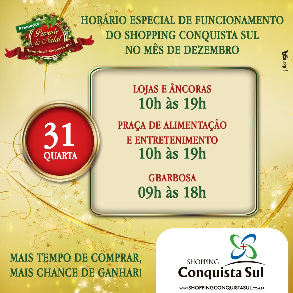 POST HORARIO NATAL -  DIA 31 - SCS - 950C950 - NOVEMBRO 2014