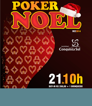 Poker Noel Shopping Conquista Sul