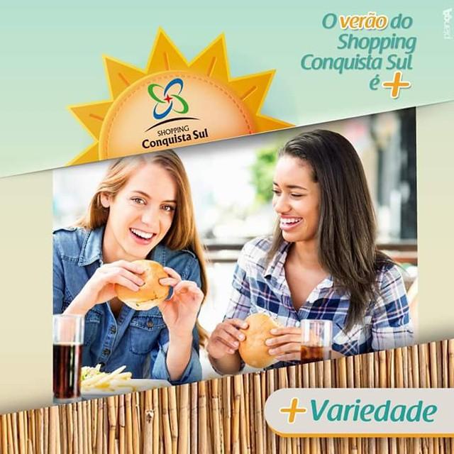O verão do Shopping Conquista Sul é + variedade! #verão #variedade #shoppingconquistasul