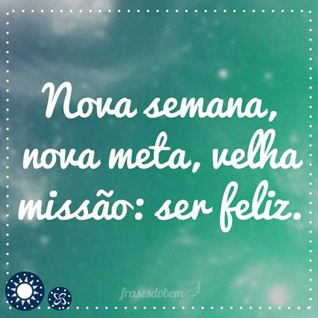 A missão de todas as semanas: Ser feliz! Bom dia! #bomdia #segunda #shoppingconquistasul