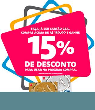 15% de desconto no cartão C&A