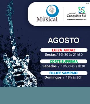 Programação Praça Musical Agosto