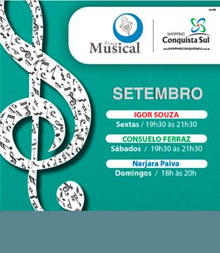 Programação Praça Musical Setembro