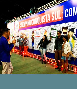 Painel do Shopping Conquista Sul faz sucesso no FIB 2015!