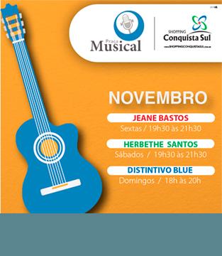 Programação Praça Musical Novembro