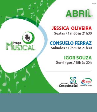 Programação Praça Musical Abril