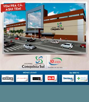 Shopping Conquista Sul inaugura novas lojas e serviços de saúde