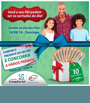 10 vale compras de R$1.000,00 – Promoção 10 anos