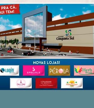 Ainda mais completo, novas lojas e novos serviços chegam ao Shopping Conquista Sul