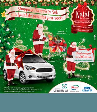 Promoção de Natal do Shopping Conquista Sul