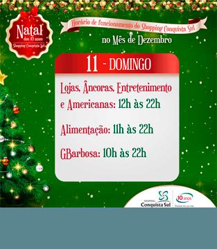 Horário 11 de Dezembro (domingo)