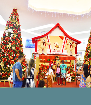 Decoração Natal dos 10 anos do Shopping Conquista Sul