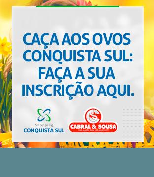 Caça aos ovos de Páscoa Shopping Conquista Sul