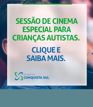 Sessão de Cinema Especial para Crianças Autistas