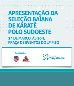 Apresentação da Seleção Brasileira de Karatê do Polo Sudoeste