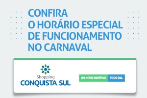 Horário especial do carnaval