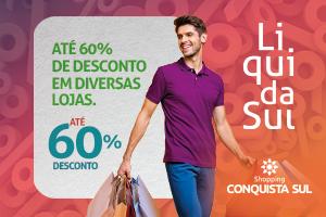 Descontos de até 60% na LiquidaSul